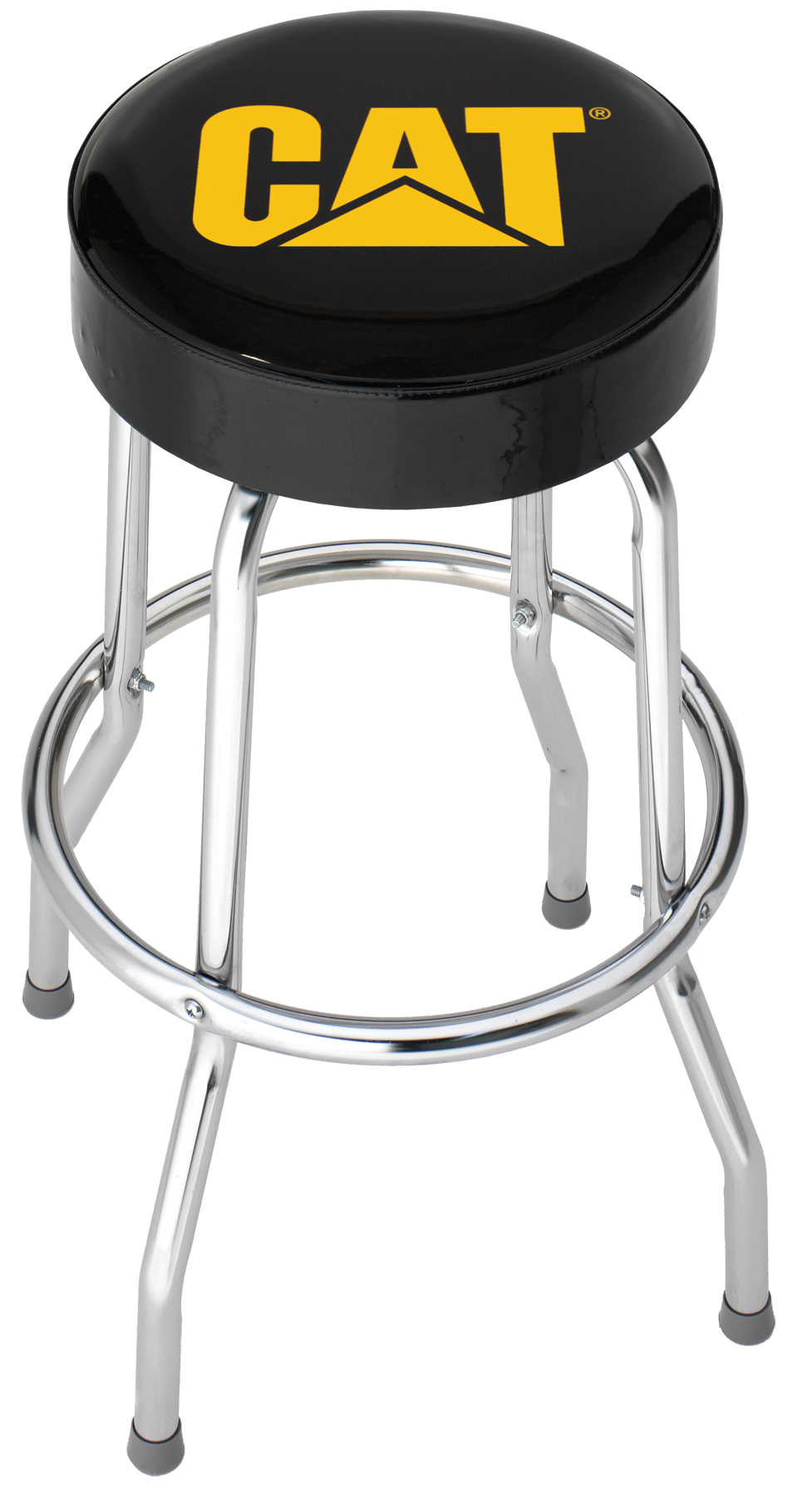 caterpillar cat chrome plated garage shop bar stool caterpillar merchandise