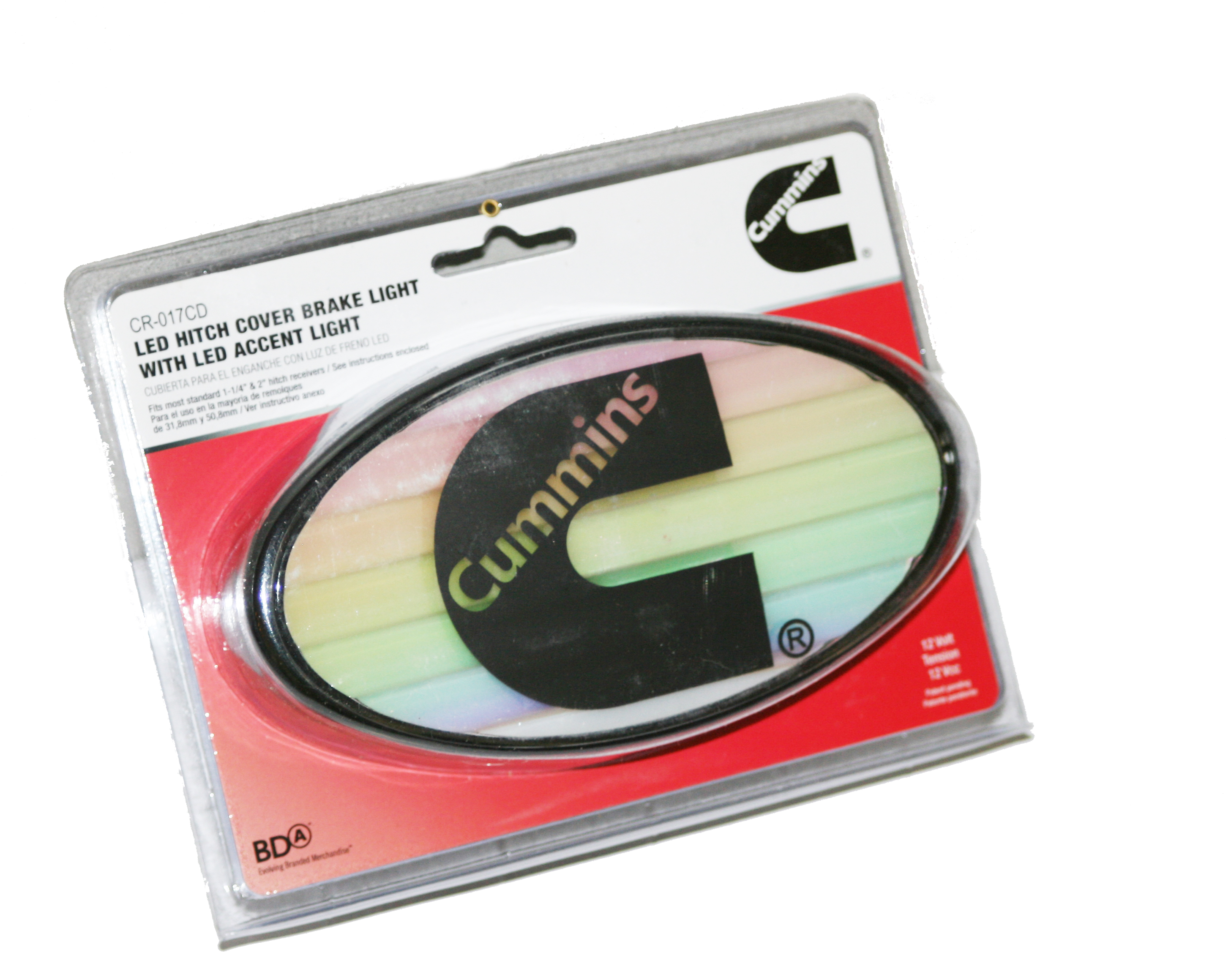 Cr Cd on Trailer Hitch Cover Brake Light