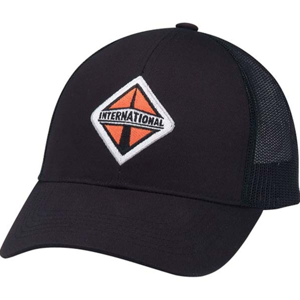 International Trucks Lightweight Black Mesh Cap
