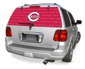 "Cincinnati Reds MLB Logo """"Rearz"""" Back Windshield Covering by Glass Tatz"