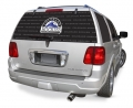 "Colorado Rockies MLB Logo """"Rearz"""" Back Windshield Covering by Glass Tatz"