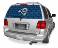 "St. Louis Rams NFL Logo """"Rearz"""" Back Windshield Covering by Glass Tatz"