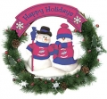 "Iowa State Cyclones 20"" Team Snowman Wreath"
