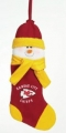 "Kansas City Chiefs 22"" Christmas Snowman Stocking"