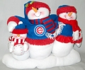 Chicago Cubs Table Top Snowman Family