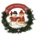 "San Francisco 49ers 20"" Two Snowmen Football Family Wreath"