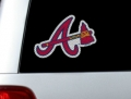 "Atlanta Braves MLB Logo """"Cutz"""" One Way Glass Covering by Glass Tatz"