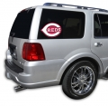 "Cincinnati Reds MLB Logo """"Cutz"""" One Way Glass Covering by Glass Tatz"