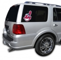 "Cleveland Indians MLB Logo """"Cutz"""" One Way Glass Covering by Glass Tatz"