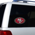 "San Francisco 49ers Glass Tatz NFL Logo ""CUTZ"" Side Windshield Graphic/Decal"