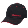 Kenworth Trucks Black & Red Fitted Stretch Contrast Stitch Cap