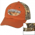 Caterpillar CAT Est. 1925 Orange & Camo Back Cap