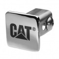 "Caterpillar CAT Chrome Plated Heavy Brass 2"" Automobile Hitch Cover"