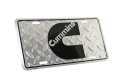 "Cummins ""C""  Diamond Plate License Plate"