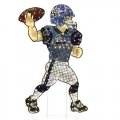 "Seattle Seahawks NFL 44"" Animated Lawn Figure"