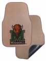 Marshall Thundering Herd 2pc Beige Universal Car Floor Mats