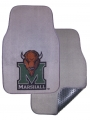 Marshall Thundering Herd 2pc Grey Universal Car Floor Mats
