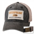 Caterpillar CAT Faded Gray Stone Mesh Cap