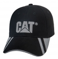 Caterpillar CAT Reflective Visor Black Cap