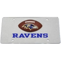 Baltimore Ravens Football Silver Laser Cut License Plate