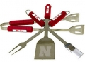 Nebraska Cornhuskers Stainless Steel BBQ Utensil Set
