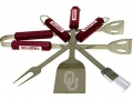 Oklahoma Sooners Stainless Steel BBQ Utensil Set