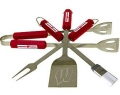 Wisconsin Badgers Stainless Steel BBQ Utensil Set