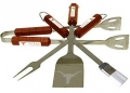Texas Longhorns Stainless Steel BBQ Utensil Set