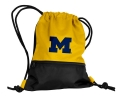 Michigan Wolverines NCAA Yellow School String Pack Backpack