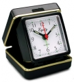 Equity Quartz Folding Travel Alarm Clock with Luminous Hands & Dots