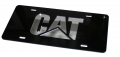 Caterpillar CAT Black Acrylic Laser Cut Mirrored License Plate