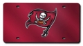 Tampa Bay Buccaneers Red Laser Cut License Plate