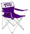 TCU Horned Frogs NCAA Canvas Tailgate Chair