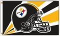 Pittsburgh Steelers NFL 3 x 5 Helmet Style Banner Flag