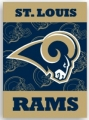 "St. Louis Rams 28"" x 40"" 2-Sided Banner"