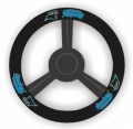 Carolina Panthers Leather Steering Wheel Cover