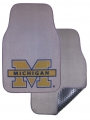 Michigan Wolverines 2pc Grey Universal Car Floor Mats