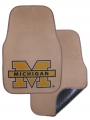Michigan Wolverines 2pc Beige Universal Car Floor Mats