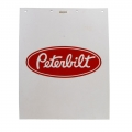 "Peterbilt Motors 24"" x 30"" Heavy Duty 3/16"" Thick Semi Truck White Mud Flaps"