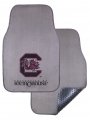 South Carolina Gamecocks 2pc Grey Universal Car Floor Mats