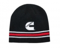 Cummins Diesel Black, Red & White Striped Winter Beanie Cap