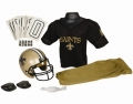 New Orleans Saints Franklin Youth NFL Team Helmet and Uniform Set