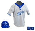 Kansas City Royals MLB Youth Helmet and Jersey Set