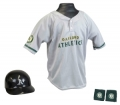 Oakland Athletics MLB Youth Helmet and Jersey Set