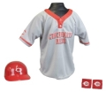 Cincinnati Reds MLB Youth Helmet and Jersey Set