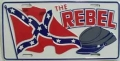"The ""Rebel"" Rebel Flag Aluminum License Plate"
