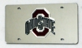 Ohio State Buckeyes Laser Cut/Mirrored Silver License Plate