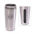 Volvo 18 oz Dual-Grip Travel Stainless Steel Tumbler