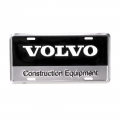 Volvo Construction Equipment Metal License Plate