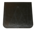 "Plain Black Polyurethane 24"" x 24"" Semi-Truck 1/4"" Mud Flap"